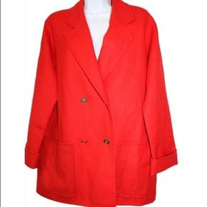Burberry's red wool jacket L